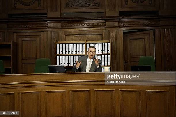 Josef Josef Hoch Judge of the Criminal Division of the Superior Court 1 on on the first day of the trial for two alleged members of the radical...
