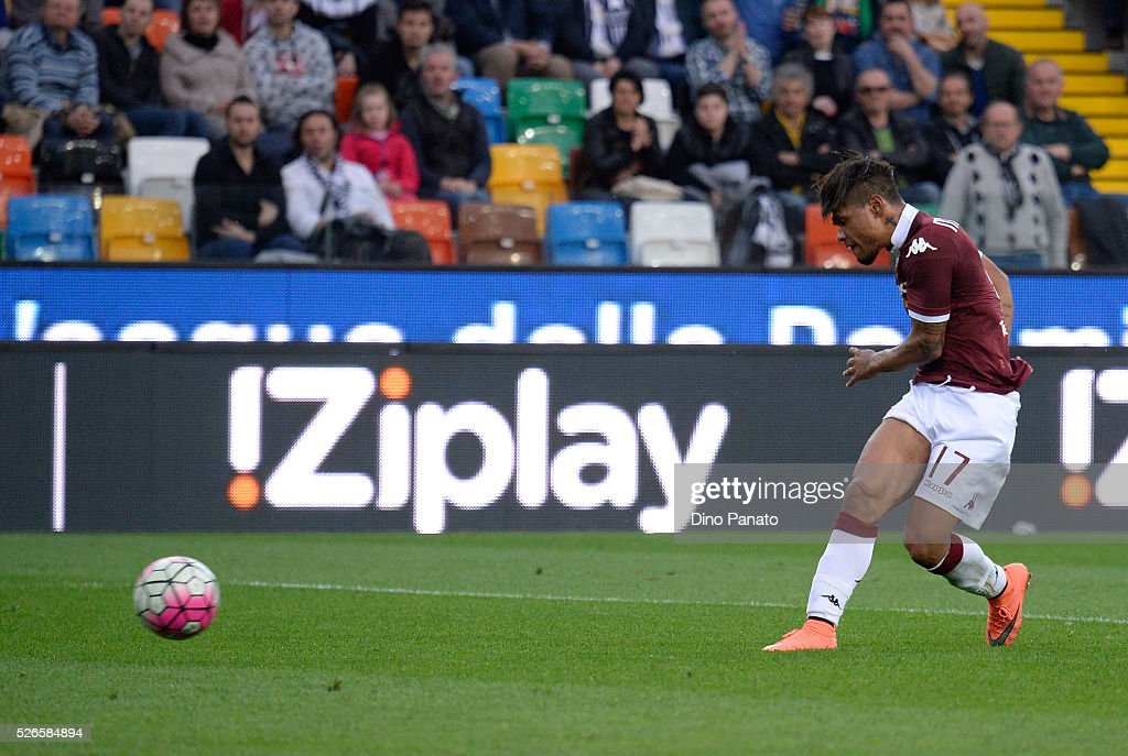 Josef Martinez of Torino FC scores his team's 5th goal during the Serie A match between Udinese Calcio and Torino FC at Dacia Arena on April 30, 2016 in Udine, Italy.