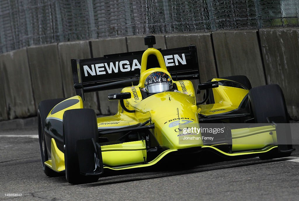 Josef Newgarden drives his #67 Sarah Fisher Racing Honda Dallara DW12 during practice for the IZOD INDYCAR Series Chevrolet Detroit Belle Isle Grand Prix on Belle Isle on June 1, 2012 in Detroit, Michigan.