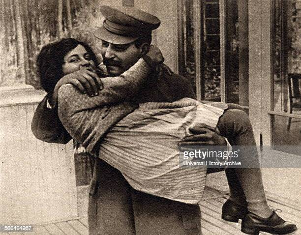Josef Stalin the Soviet Russian leader with his daughter Svetlana 1936