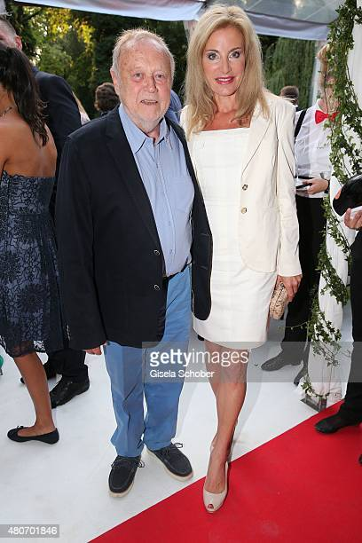 Josef Vilsmaier and his partner Birgit Muth during the 'Winning by Giving' charity by Hadassah Medical Center on July 14 2015 in Munich Germany