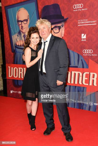 Josefine Preuss and Joerg Schuettauf attend the Premiere 'Vorwaerts immer' at Kino International on October 11 2017 in Berlin Germany