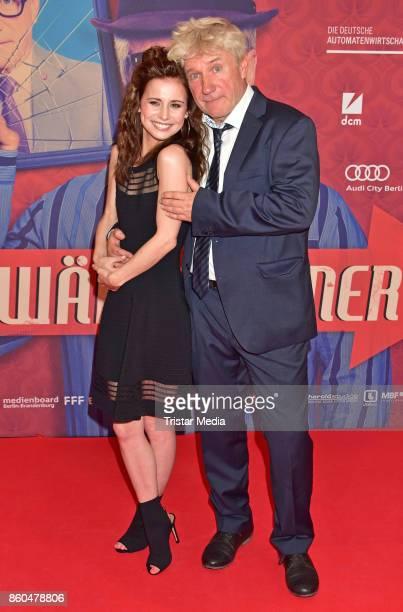 Josefine Preuss and Joerg Schuettauf attend the 'Vorwaerts immer' premiere at Kino International on October 11 2017 in Berlin Germany
