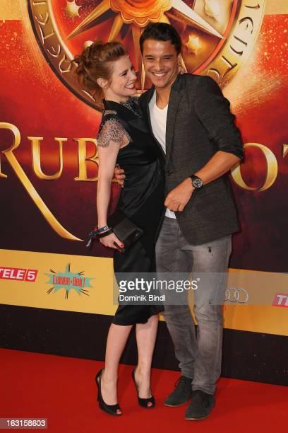 Josefine Preuss and Kostja Ullmann attend the Rubinrot Premiere on March 5 2013 in Munich Germany