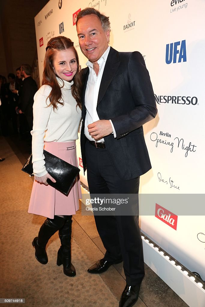 Josephine Preuss and Nico Hofmann during the 'Berlin Opening Night of GALA & UFA Fiction' at Das Stue Hotel on February 11, 2016 in Berlin, Germany.