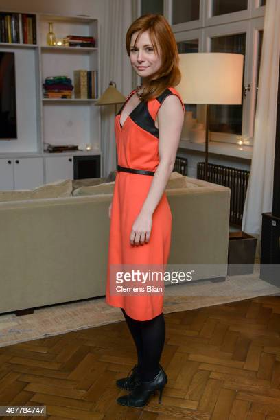 Josefine Preuss attends the Diesel Constantin Film cocktail reception during 64th Berlinale International Film Festival at Soho House on February 7...