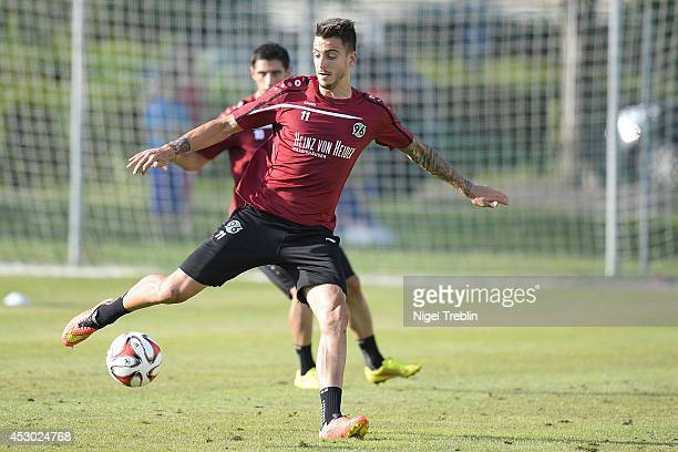 Joselu of Hanover plays the ball at Hannover 96 training camp on August 01 2014 in Mureck Austria