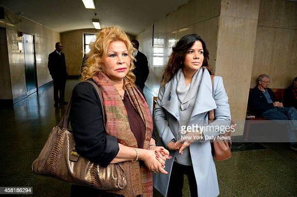 Joselyn Martinez and her mother Idalia Martinez befoere entering the courtroom in Manhattan Supreme Court Joselyn's father Jose Martinez was...