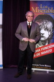 Josep Carreras attends the charity theater performance 'Los Miserables' on March 13 2012 in Barcelona Spain
