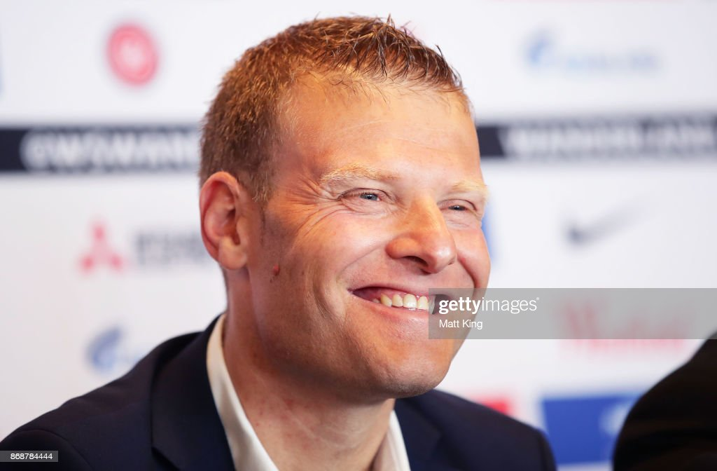Josep Gombau speaks to the media after being announced as the new Wanderers head coach during a Western Sydney Wanderers Media Opportunity at Blacktown International Sportspark on November 1, 2017 in Sydney, Australia.