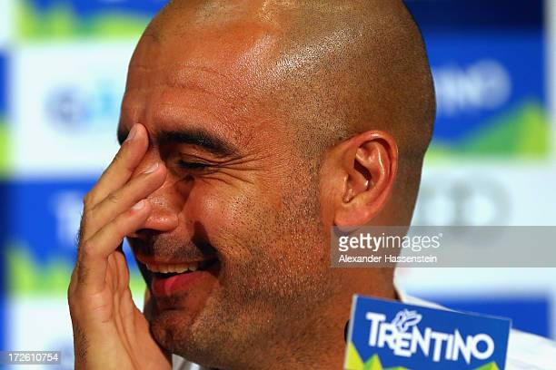 Josep Guardiola head coach of FC Bayern Muenchen smiles during a press conference at Centro Congressi on July 4 2013 in Riva del Garda Italy