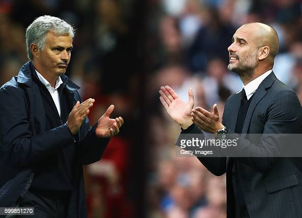 COMPOSITE OF TWO IMAGES Image numbers 592215668 and 596883044 In this composite image a comparision has been made between Manchester United manager...