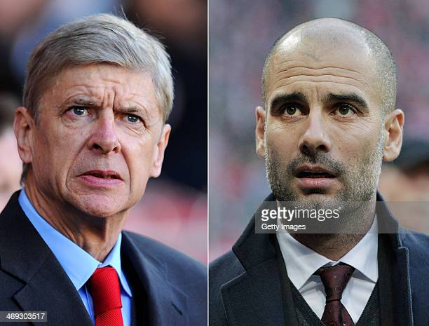 IMAGES Image Numbers 452603077 and 452615683 In this composite image a comparison has been made between Arsene Wenger the Arsenal manager and Head...