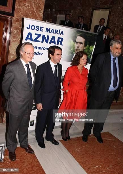 Josep Pique Jose Maria Aznar Ana Botella Jose Maria Fidalgo attend the presentation of the new book of Spanish Ex Prime Minister Jose Maria Aznar 'El...