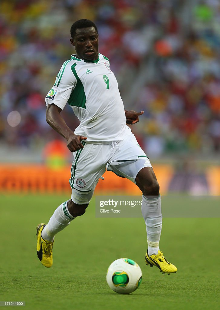 Joseph Akpala of Nigeria in action during the FIFA Confederations Cup Brazil 2013 Group B match between Nigeria and Spain at Castelao on June 23, 2013 in Fortaleza, Brazil.