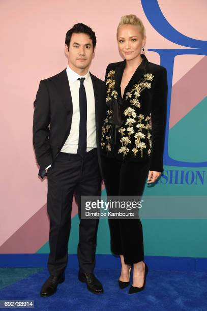 Joseph Altuzarra and Pom Klementieff attend the 2017 CFDA Fashion Awards at Hammerstein Ballroom on June 5 2017 in New York City