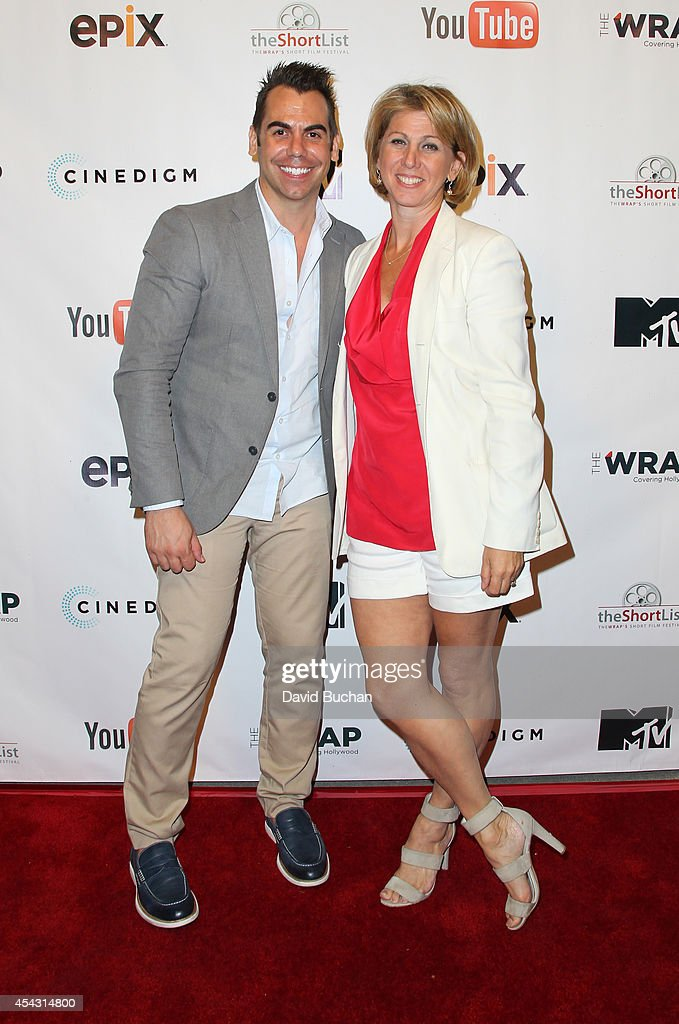 Joseph Anthony Kapsch Executive Editor at TheWrap and Sharon Waxman CEO and Editor in Chief at TheWrap attend TheWrap's ShortList Film Festival at...