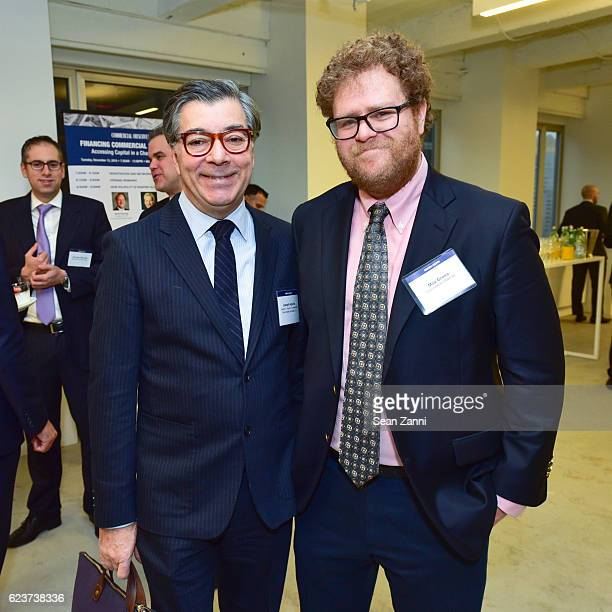 Joseph Aquino and Max Gross attend The Commercial Observer Financing Commercial Real Estate at 666 Fifth Avenue on November 15 2016 in New York City