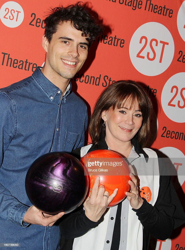 Joseph Baker and mother Patricia Richardson pose at Second Stage Theatre's 26th Annual All-Star Bowling Classic at Lucky Strike on February 4, 2013 in New York City.