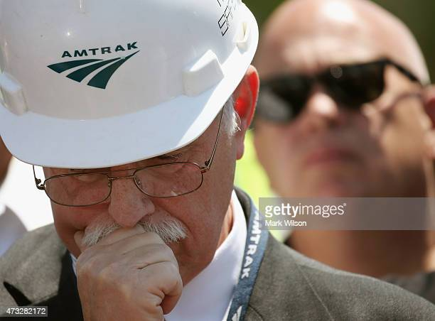 Joseph Boardman President and CEO of Amtrak participates in a news conference on the Amtrak train derailment May 14 2015 in Philadelphia Pennsylvania...