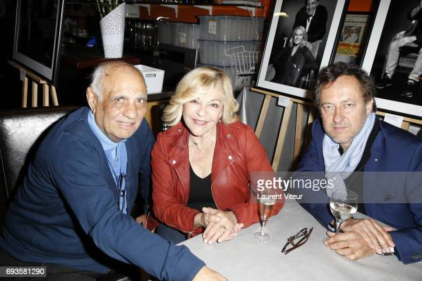 Joseph Bouglione Nicoletta and JeanChristophe Molinier attend Photographer Olivier Palade Exhibition at La Chope des Puces on June 7 2017 in...
