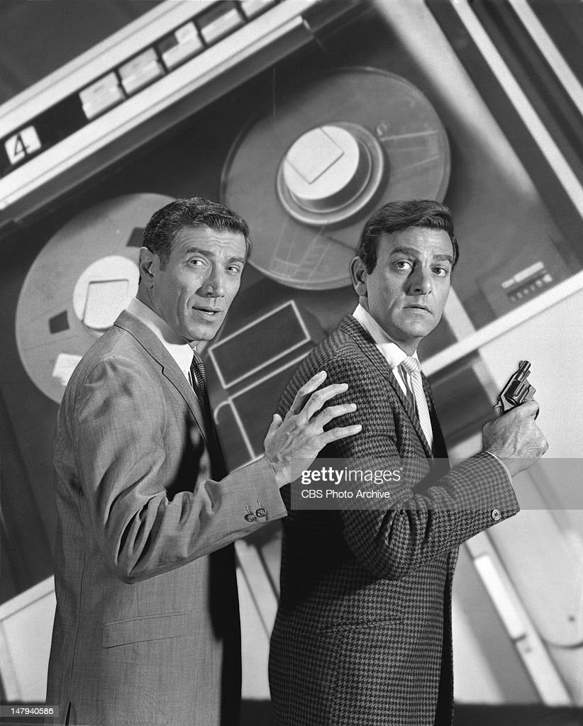 star of tv detective show joseph campanella as lou wickersham right and mike connors as joe mannix image