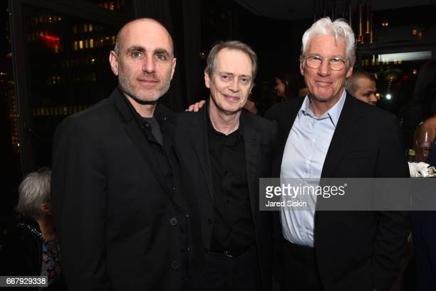 Joseph Cedar Steve Buscemi and Richard Gere attend The Cinema Society with NARS AVION host the after party for Sony Pictures Classics' 'Norman' at...