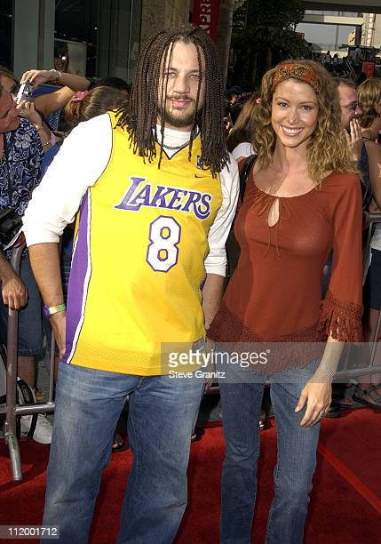 Joseph D Reitman Shannon Elizabeth during 'American Idol' Season 1 Finale Results Show Arrivals at Kodak Theater in Hollywood California United States