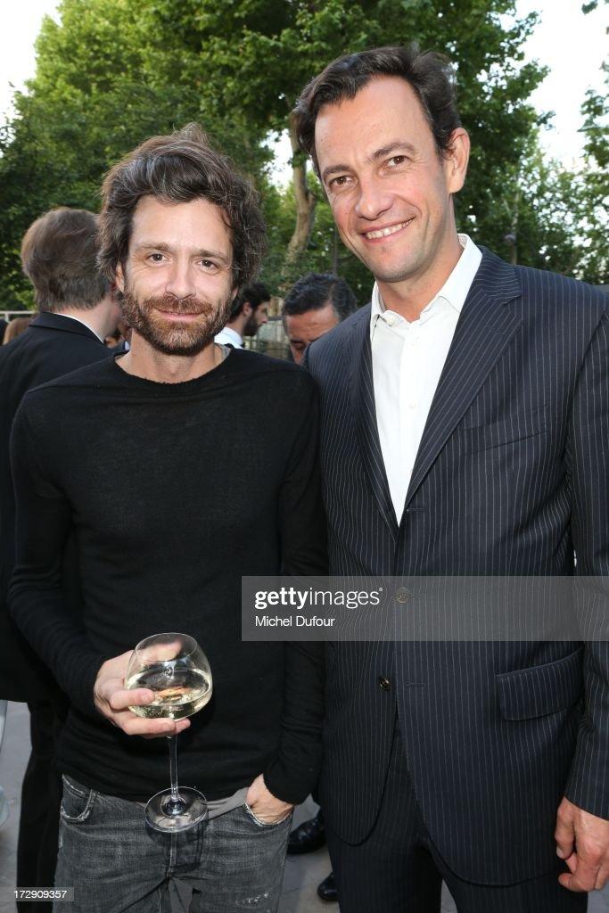 Joseph Dirand (L) and Pierre Yves Roussel attend the Chambre Syndicale de la Haute Couture cocktail party at Palais De Tokyo on July 4, 2013 in Paris, France.