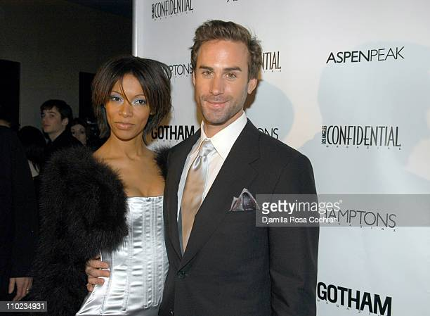 Joseph Fiennes and Guest during 'The Merchant of Venice' New York City Premiere presented by Gotham Magazine After Party at AER Lounge in New York...