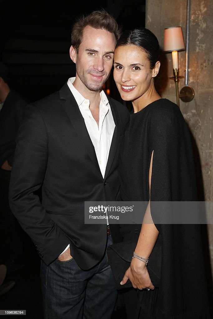 Joseph Fiennes and Maria Dolores Dieguez attend the 'Laurel After Show Party - Mercedes-Benz Fashion Week Autumn/Winter 2013/14' at Soho House on January 17, 2013 in Berlin, Germany.