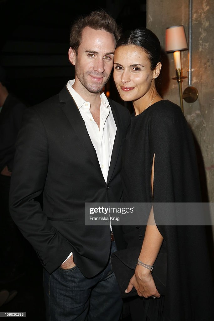 <a gi-track='captionPersonalityLinkClicked' href=/galleries/search?phrase=Joseph+Fiennes&family=editorial&specificpeople=211171 ng-click='$event.stopPropagation()'>Joseph Fiennes</a> and <a gi-track='captionPersonalityLinkClicked' href=/galleries/search?phrase=Maria+Dolores+Dieguez&family=editorial&specificpeople=4197070 ng-click='$event.stopPropagation()'>Maria Dolores Dieguez</a> attend the 'Laurel After Show Party - Mercedes-Benz Fashion Week Autumn/Winter 2013/14' at Soho House on January 17, 2013 in Berlin, Germany.