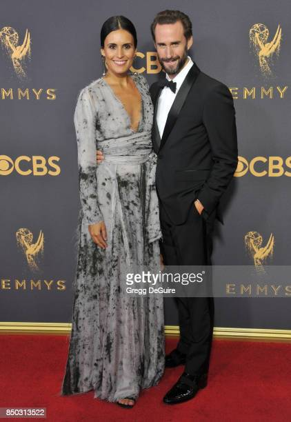 Joseph Fiennes and wife Maria Dolores Dieguez arrive at the 69th Annual Primetime Emmy Awards at Microsoft Theater on September 17 2017 in Los...