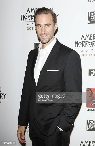 Joseph Fiennes arrives at the Los Angeles premiere of 'American Horror Story Asylum' held at Paramount Studios on October 13 2012 in Hollywood...