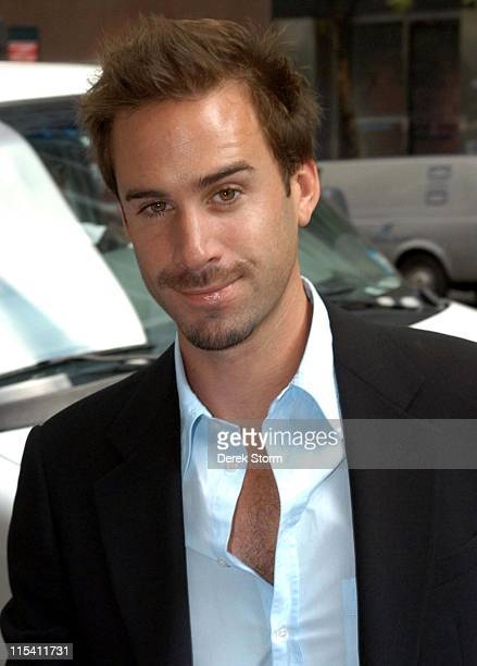 Joseph Fiennes during Joseph Fiennes and Teairra Mari Visit 'WB11 Morning News' August 10 2005 at WB11 Morning News Studios in New York City New York...