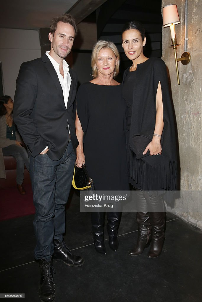 <a gi-track='captionPersonalityLinkClicked' href=/galleries/search?phrase=Joseph+Fiennes&family=editorial&specificpeople=211171 ng-click='$event.stopPropagation()'>Joseph Fiennes</a>, Elisabeth Schwaiger and <a gi-track='captionPersonalityLinkClicked' href=/galleries/search?phrase=Maria+Dolores+Dieguez&family=editorial&specificpeople=4197070 ng-click='$event.stopPropagation()'>Maria Dolores Dieguez</a> attend the 'Laurel After Show Party - Mercedes-Benz Fashion Week Autumn/Winter 2013/14' at Soho House on January 17, 2013 in Berlin, Germany.