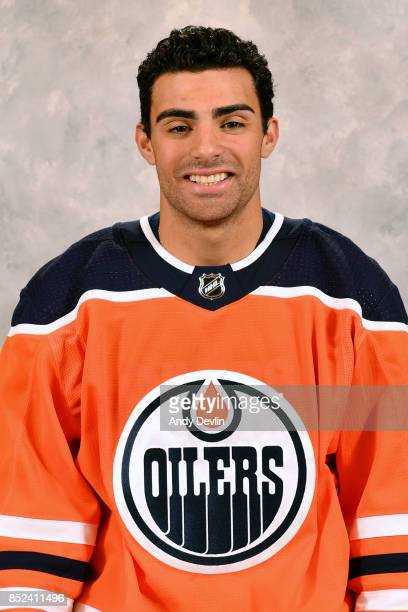 Joseph Gambardella of the Edmonton Oilers poses for his official headshot for the 20172018 season on September 7 2017 at Rogers Place in Edmonton...
