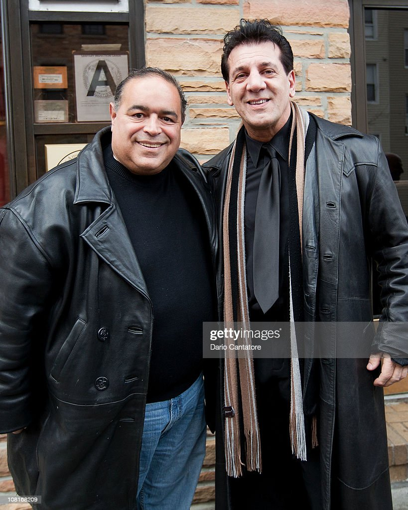 Perry bamonte stock photos and pictures getty images - Joseph Gannascoli And Chuck Zito Tape Scenes For A Music Video At Bamonte S Restaurant On January