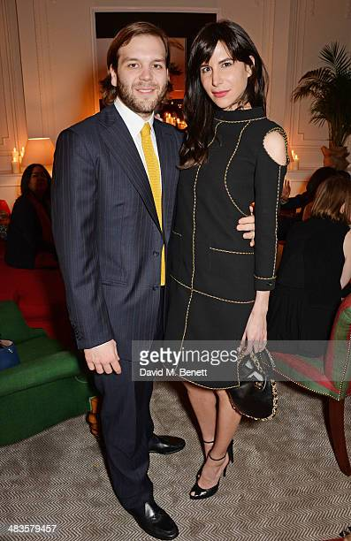 Joseph Getty and Caroline Sieber attend the Sabine G Harlequin Collection launch hosted by jewellery designer Sabine Ghanem and Joseph Getty at 26...