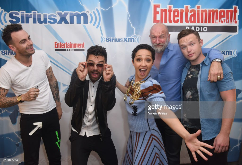 Joseph Gilgun, Dominic Cooper, Ruth Negga, Graham McTavish and Ian Colletti attend SiriusXM's Entertainment Weekly Radio Channel broadcast from Comic Con 2017 at Hard Rock Hotel San Diego on July 20, 2017 in San Diego, California.