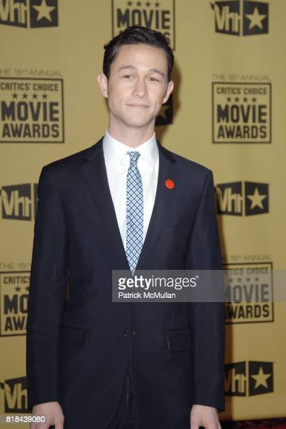 Joseph Gordon Levitt attends 2010 Critics Choice Awards at The Palladium on January 15 2010 in Hollywood California