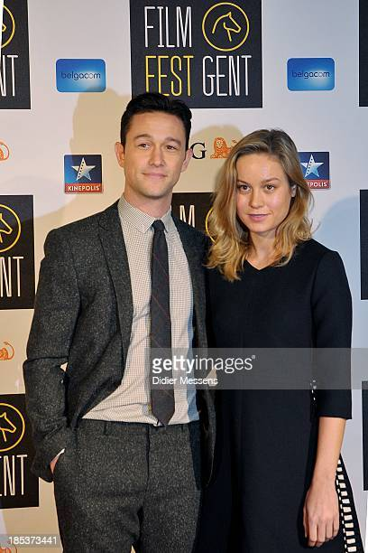 Joseph GordonLevitt and Brie Larson attends the Belgian premiere of Don Jon at the 40th Ghent Film Festival on October 17 2013 in Gent Belgium