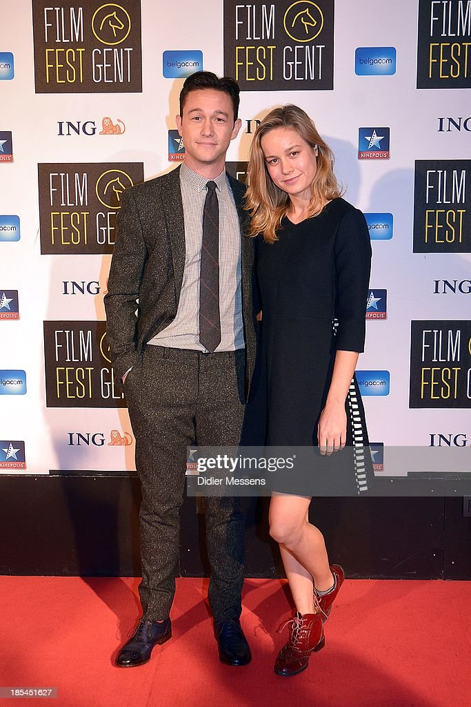 Joseph Gordon-Levitt and Brie Larson attends the Belgian premiere of Don Jon at the 40th Ghent Film Festival on October 17, 2013 in Gent, Belgium.