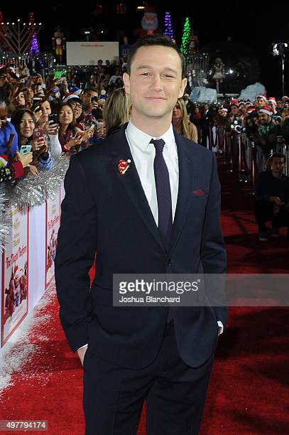 Joseph GordonLevitt arrives at the premiere for Columbia Pictures' 'The Night Before' at The Theatre at The Ace Hotel on November 18 2015 in Los...