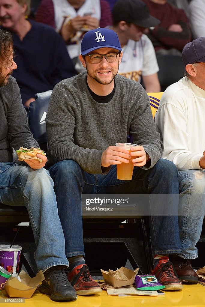<a gi-track='captionPersonalityLinkClicked' href=/galleries/search?phrase=Joseph+Gordon-Levitt&family=editorial&specificpeople=213632 ng-click='$event.stopPropagation()'>Joseph Gordon-Levitt</a> attends a basketball game between the Denver Nuggets and the Los Angeles Lakers at Staples Center on January 6, 2013 in Los Angeles, California.