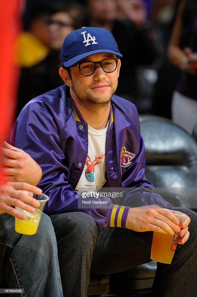 <a gi-track='captionPersonalityLinkClicked' href=/galleries/search?phrase=Joseph+Gordon-Levitt&family=editorial&specificpeople=213632 ng-click='$event.stopPropagation()'>Joseph Gordon-Levitt</a> attends an NBA playoff game between the San Antonio Spurs and the Los Angeles Lakers at Staples Center on April 26, 2013 in Los Angeles, California.