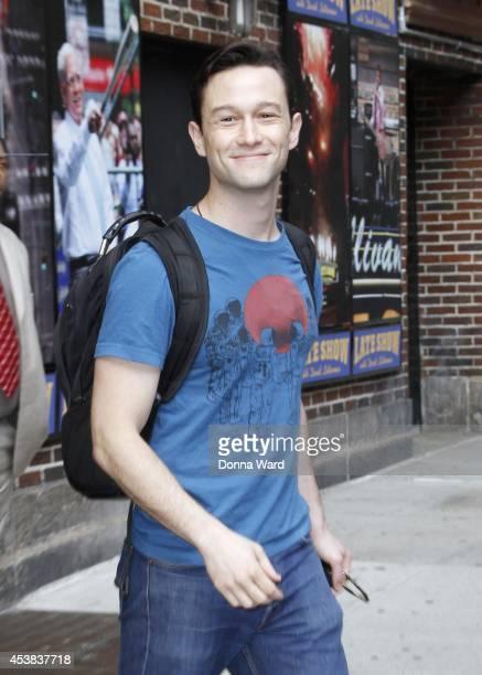 Joseph GordonLevitt leaves the 'Late Show with David Letterman' at Ed Sullivan Theater on August 19 2014 in New York City