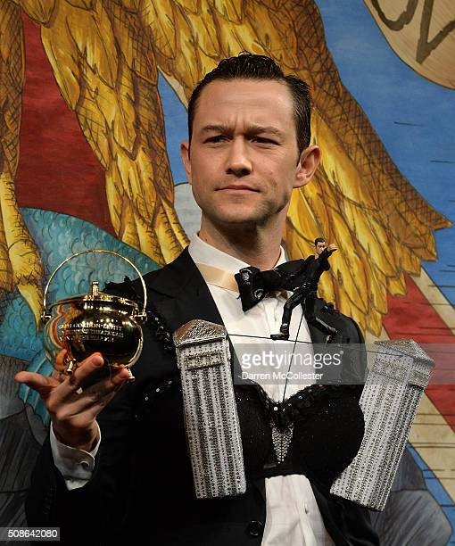 Joseph GordonLevitt performs in skits with Hasty Pudding Theatricals as he is honored with Hasty Pudding Man of the Year award February 5 2016 in...