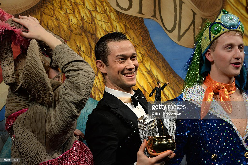 Joseph Gordon-Levitt performs in skits with Hasty Pudding Theatricals as he is honored with Hasty Pudding Man of the Year award February 5, 2016 in Cambridge, Massachusetts. .