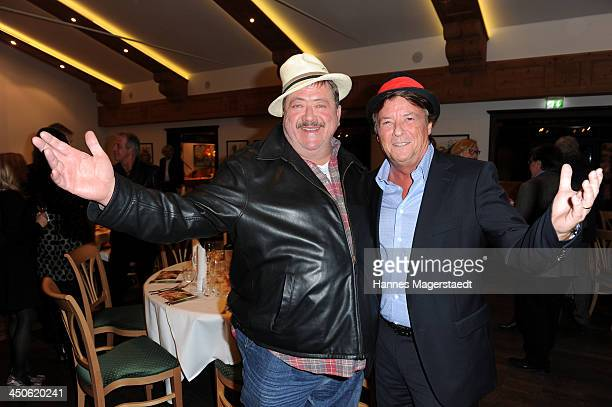 Joseph Hannesschlaeger and Georg Dingler attend the Tuscan Wine Festival at Gruenwalder Einkehr on November 19 2013 in Munich Germany
